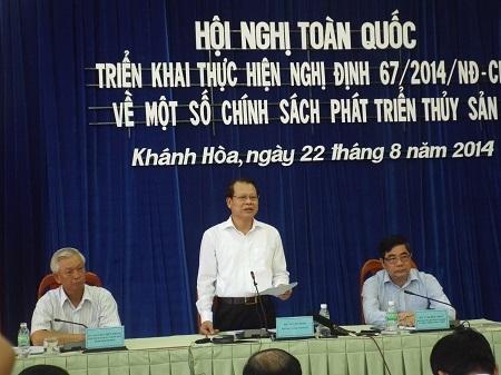 Phó Thủ tướng Vũ Văn Ninh chủ trì Hội nghị. (Ảnh: Viết Hảo)