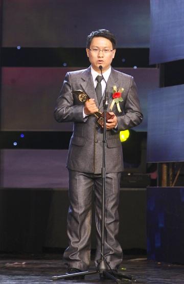 Anh Đậu Ngọc Hà Dương, trưởng nhóm tác giải sản phẩm VIS phát biểu sau khi nhận giải.