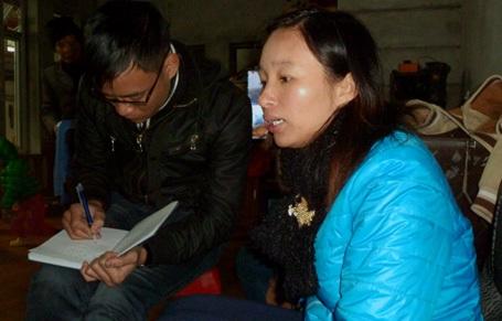 Chị Linh, mẹ cháu Long, kể lại sự việc đau lòng.