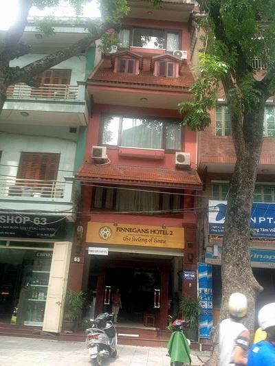 Khách sạn nơi xảy ra hỏa hoạn.