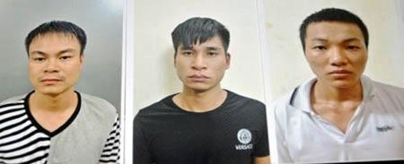 3 đối tượng bị cảnh sát bắt giữ.