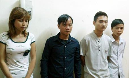 4 đối tượng bị cảnh sát bắt giữ.