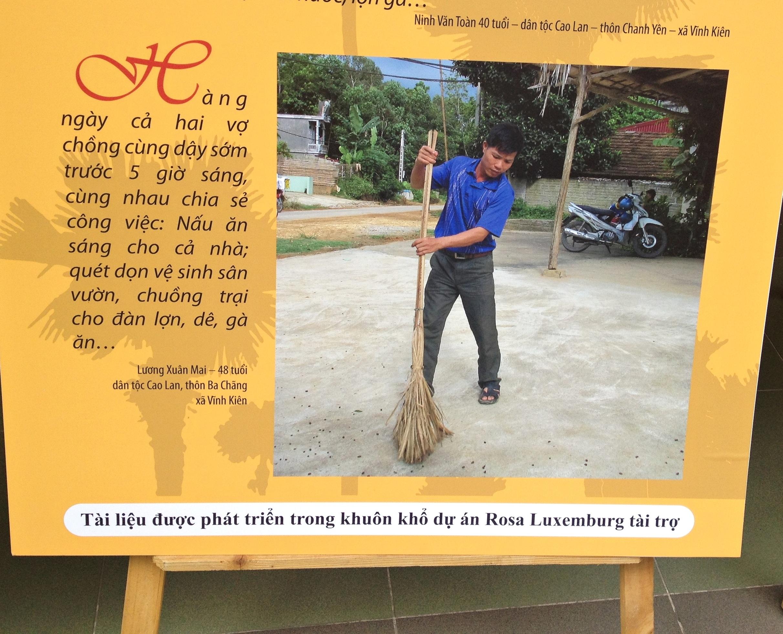 Khi nam giới làm việc nhà và câu chuyện bình đẳng giới ở Yên Bái
