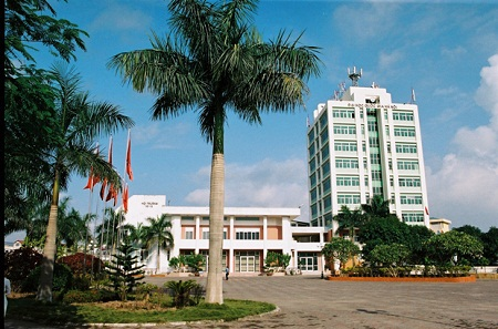 Khuôn viên trường ĐH Quốc gia Hà Nội.