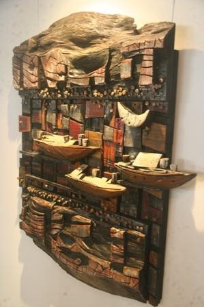 Du thuyền – Kỳ Kao Khải (Gỗ - Sơn)
