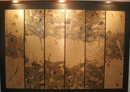 Biển cạn – Nguyễn Huy Lộc (Khắc gỗ)