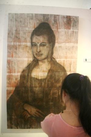 Mona- Budha (Mixed media)