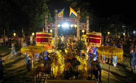 Toàn cảnh đàn tế thần đất Xã Tắc trong đêm lễ trang nghiêm, và đầy ý nghĩa tâm linh - nhân văn
