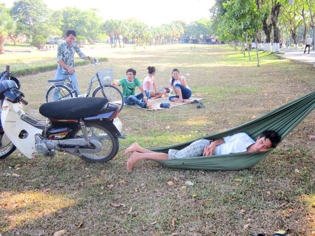 Công viên là nơi trốn nóng lý tưởng.