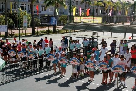 Lễ khai mạc giải quần vợt thanh thiếu niên xuất sắc toàn quốc 2013