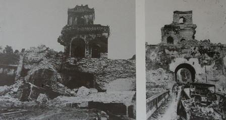 Nhiều cửa thành bị đổ nát, hoang phế sau chiến tranh ở nhiều tình trạng, mức độ khác nhau