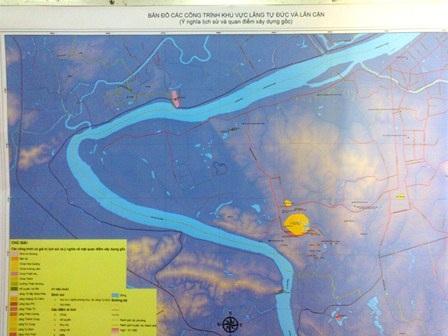Bản đồ GIS về lăng vua Tự Đức - Đồng Khánh