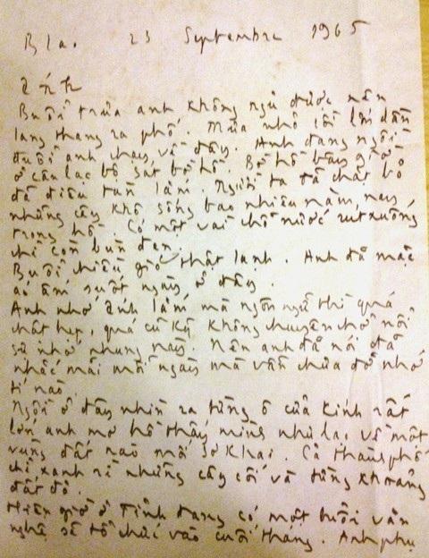 Bức thư tình Trịnh Công Sơn gửi Dao Ánh