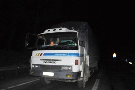 Xe tải 77C-038.17 bị tuột dốc gây tai nạn liên hoàn