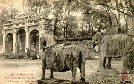 Ngựa thời vua Minh Mạng (ảnh) có phần bệ vệ và mập hơn ngựa thời vua cha Gia Long