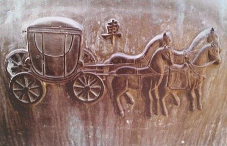 Cổ xe ngựa hoàng gia thời vua Nguyễn trên Cửu Đỉnh
