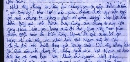 Bài thi của em Nguyễn Ngọc Bảo Châu.