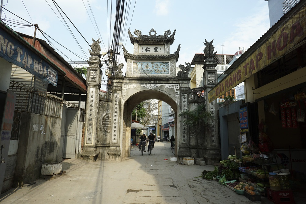 Đây là cổng sau của thôn Tràng, người dân còn gọi là cổng đồng (cổng để đi ra đồng).