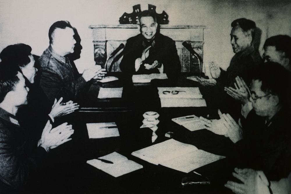 Đại tướng Văn Tiến Dũng - Tổng Tham mưu trưởng công bố Quyết định thành lập Quân đoàn 1.