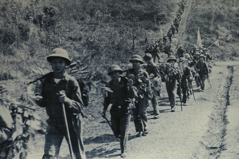 Đại đội 1 Tiểu đoàn 1 Trung đoàn 36 Sư đoàn 308 hành quân vào chiến trường tháng 2/1974.