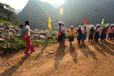 Buổi lễ khai trường trên vùng cao Hà Giang thật sự là một ngày hội