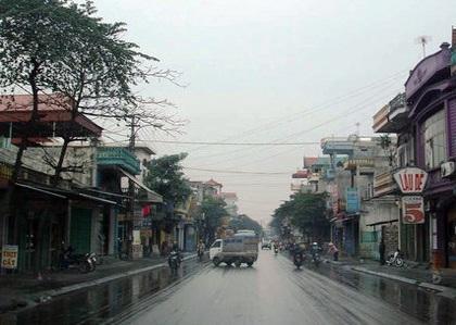 Một góc thị trấn Mạo Khê