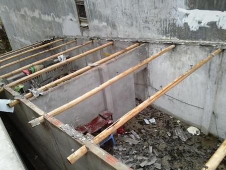 Nhiều công trình bị hư hỏng nặng