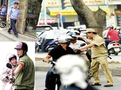Lực lượng tự quản rối từ trang phục cho đến tên gọi. Ảnh: Minh Đức - Nguyễn Tú.
