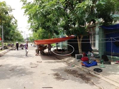 Hiện trường khu lán trại, nơi phát hiện nạn nhân Viên Văn Đoàn tử vong.