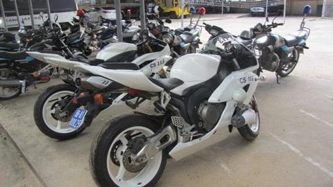 Dàn 3 xe mô tô khủng mà Cảnh sát 113 Đồng Nai vừa được nhận (ảnh: N.D)