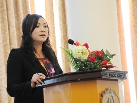 Luật sư Vũ Thị Nga, Trưởng Văn phòng Luật sư Công Lý Việt.