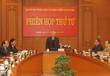 Tổng Bí thư Nguyễn Phú Trọng phát biểu tại phiên họp. Ảnh: TTXVN