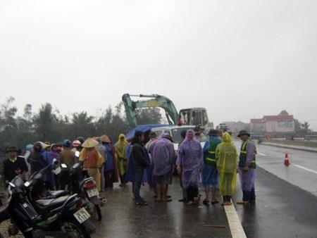 Hiện trường vụ tai nạn khiến chị Nguyễn Thị Phương tử vong