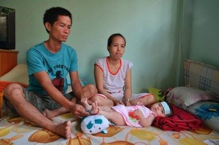 Gia đình anh Hồ Kim Hậu đang sống trong nhà trọ