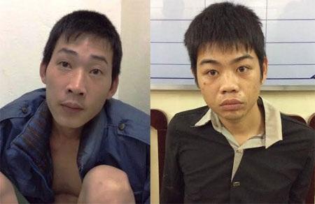 Hai trong 3 đối tượng vừa bị bắt giữ
