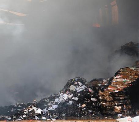 Hiện trường vụ cháy lớn