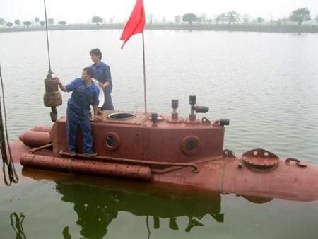 Tàu ngầm Trường Sa trong buổi chạy thử sáng nay