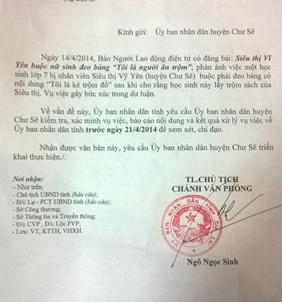 Công văn của UBND tỉnh Gia Lai