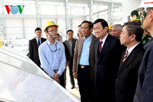 Chủ tịch nước Trương Tấn Sang thăm khu kinh tế Hà Tĩnh