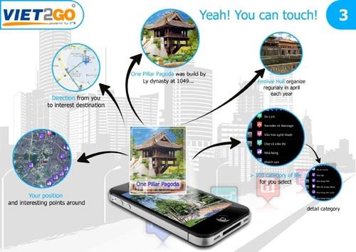 Ảnh mô tả các lợi ích của ứng dụng miễn phí Viet2Go.
