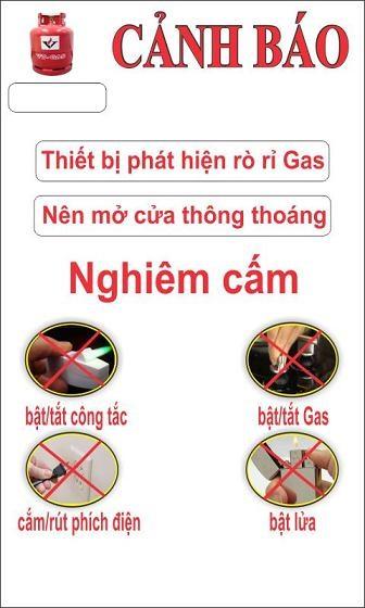 Màn hình cảnh báo rò khí gas.