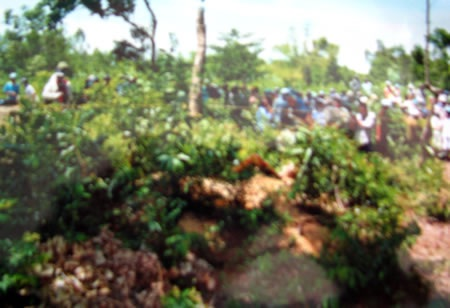 Hiện trường nơi anh Huỳnh Đình Thôi bị sát hại.
