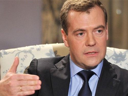 Thủ tướng Nga Dmitry Medvedev. Ảnh: AP