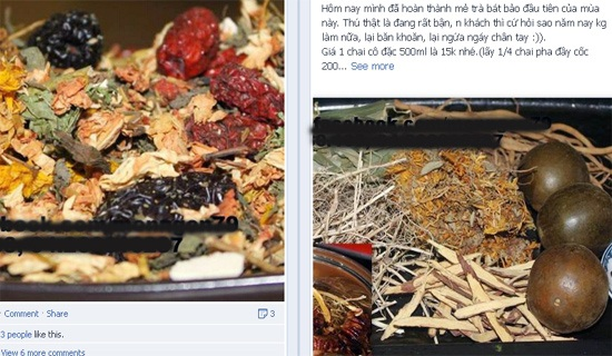 Trong ảnh là FB của một cửa hàng chuyên bán thực phẩm sạch tại Nguyễn Đình Chiểu.
