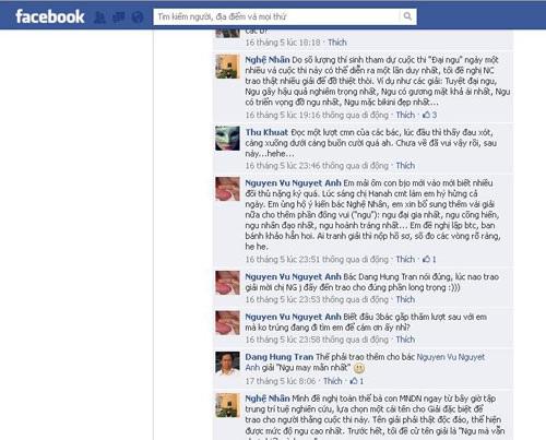 """Trang Facebook của những người tham gia dự giải """"Đại ngu""""."""