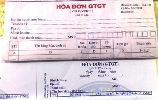 Không khó để mua hóa đơn VAT trên mạng.