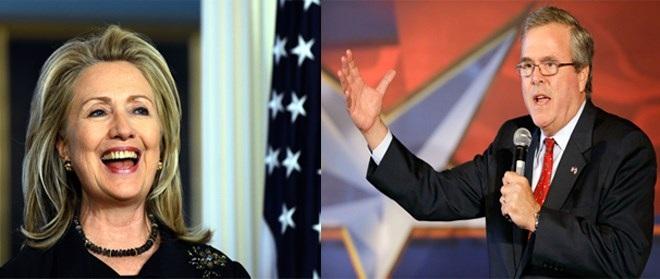 Bà Hillary Clinton và ông Jeb Bush