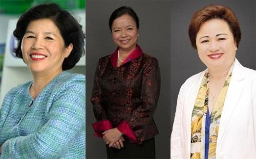 Từ trái qua phải, bà Mai Kiều Liên, bà Nguyễn Thị Mai Thanh, và bà Nguyễn Thị Nga - Ảnh: Forbes.