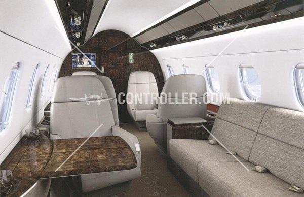 Nội thất bên trong chiếc máy bay dòng Legacy 9 chỗ