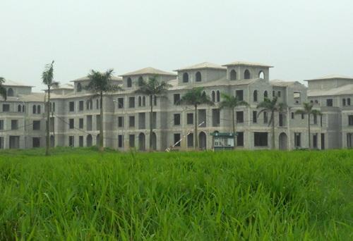 Những dãy biệt thự ma bỏ hoang trong nhiều năm (ảnh: Tuấn Linh)